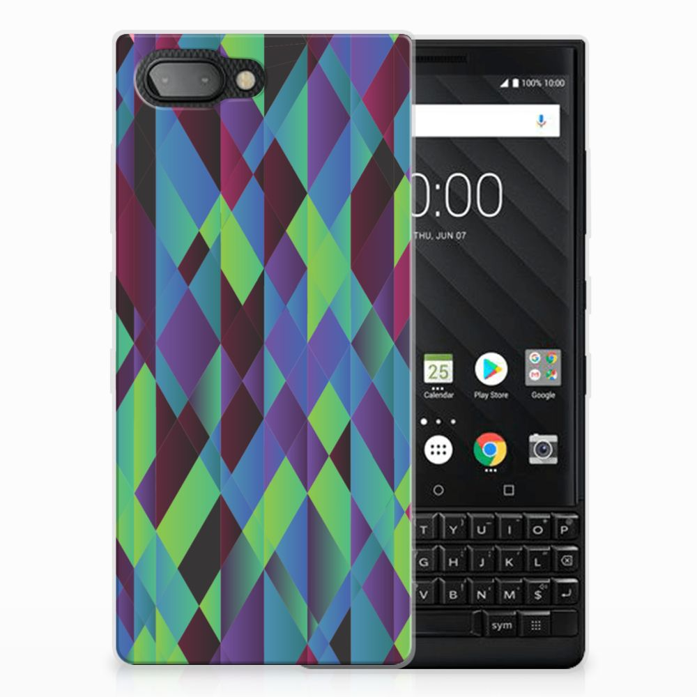 BlackBerry Key2 TPU Hoesje Abstract Green Blue