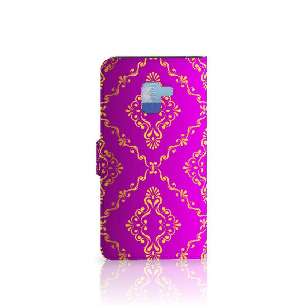 Wallet Case Samsung Galaxy A8 Plus (2018) Barok Roze