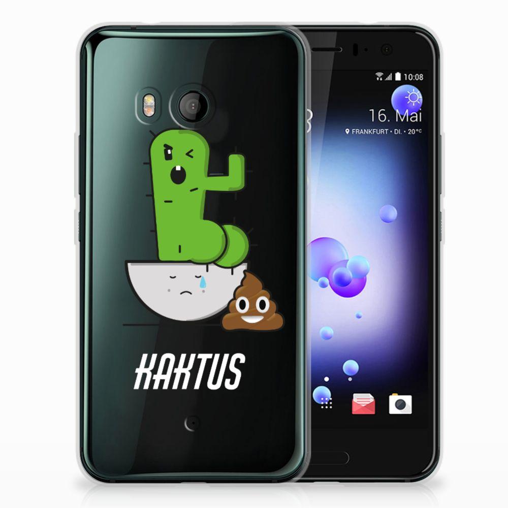 HTC U11 Telefoonhoesje met Naam Cactus Poo