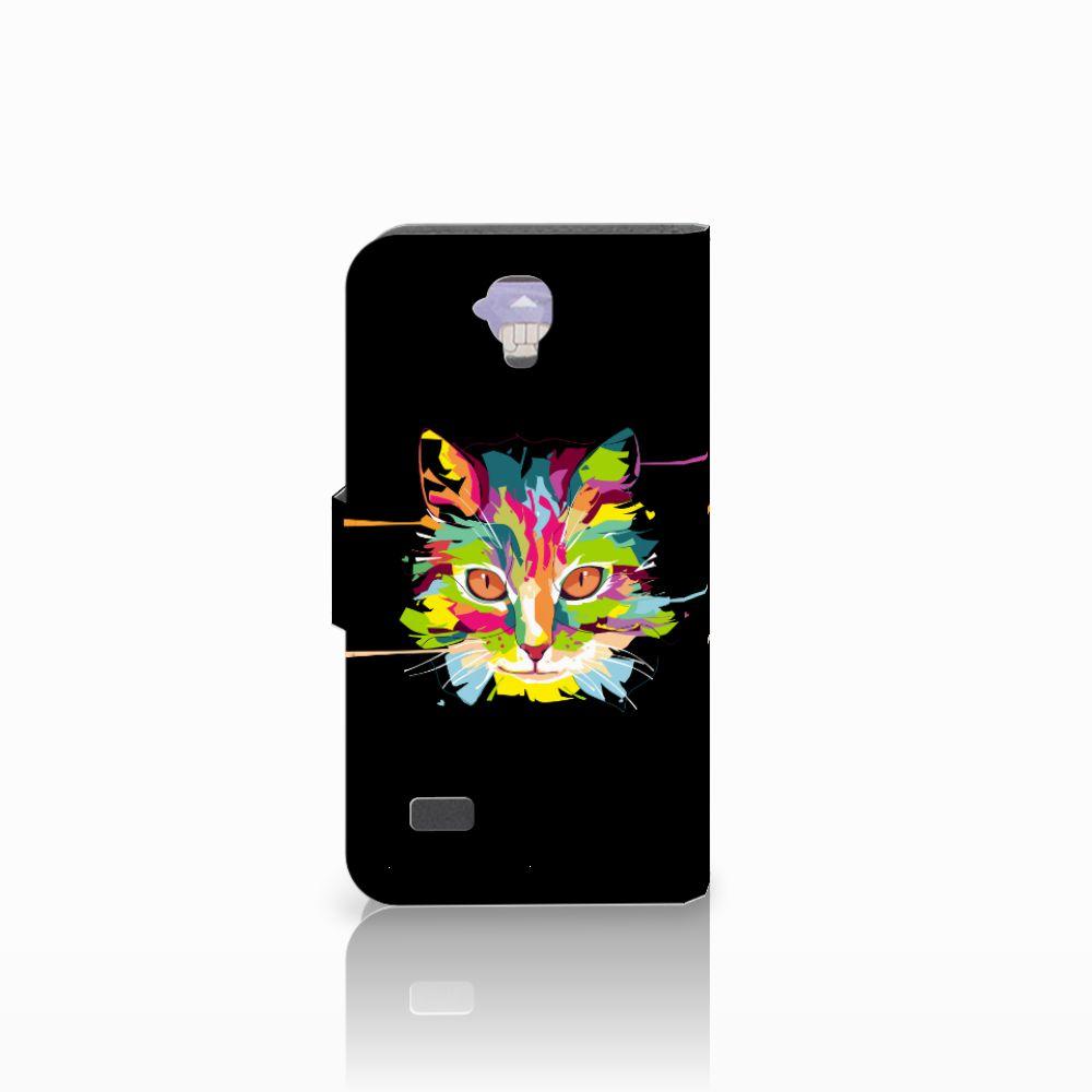Huawei Y5 Y560 Leuke Hoesje Cat Color
