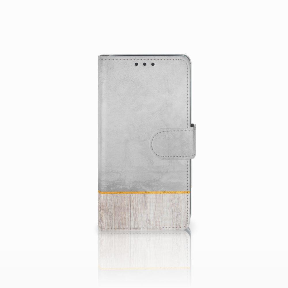 Samsung Galaxy J5 (2015) Book Style Case Wood Concrete
