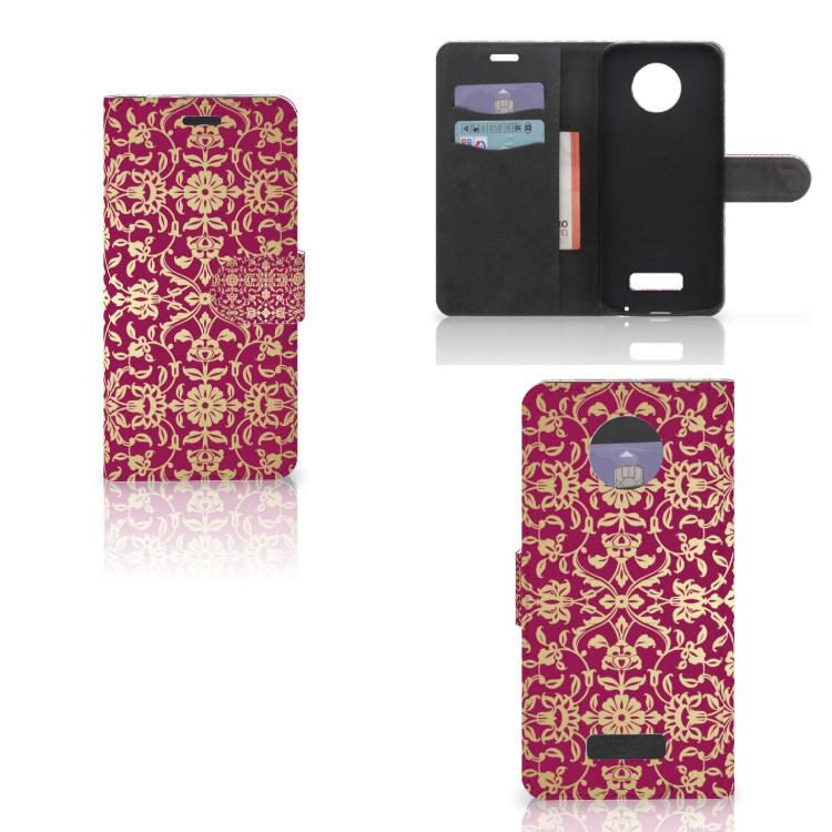 Wallet Case Motorola Moto Z Barok Pink