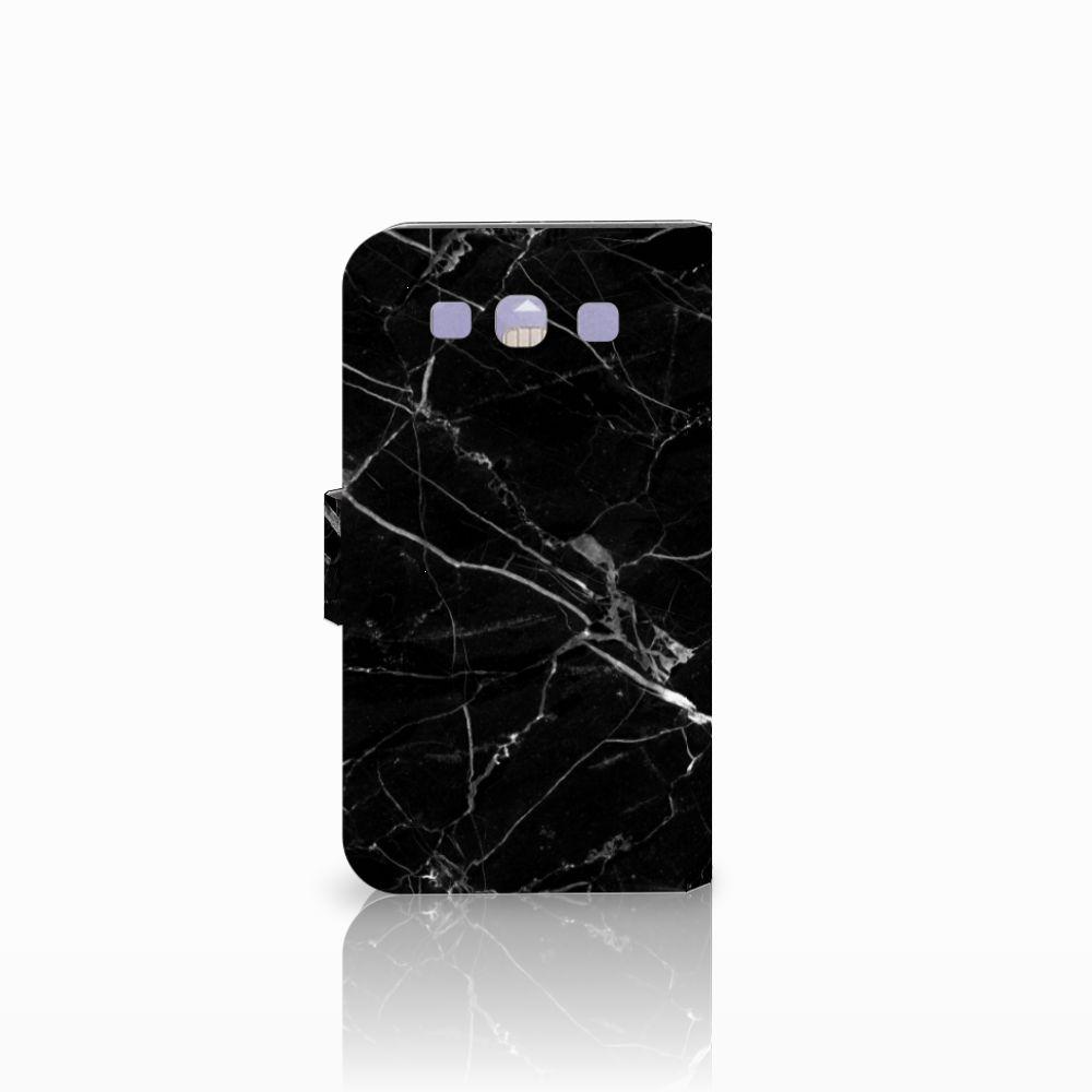 Samsung Galaxy S3 i9300 Bookcase Marmer Zwart