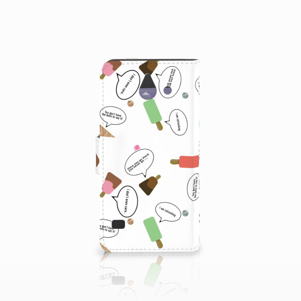 Huawei Ascend Y550 Book Cover IJsjes