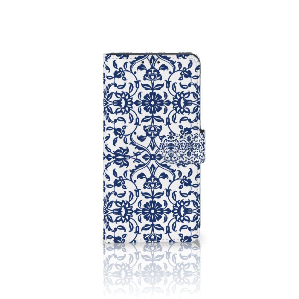 Samsung Galaxy J4 Plus (2018) Boekhoesje Flower Blue