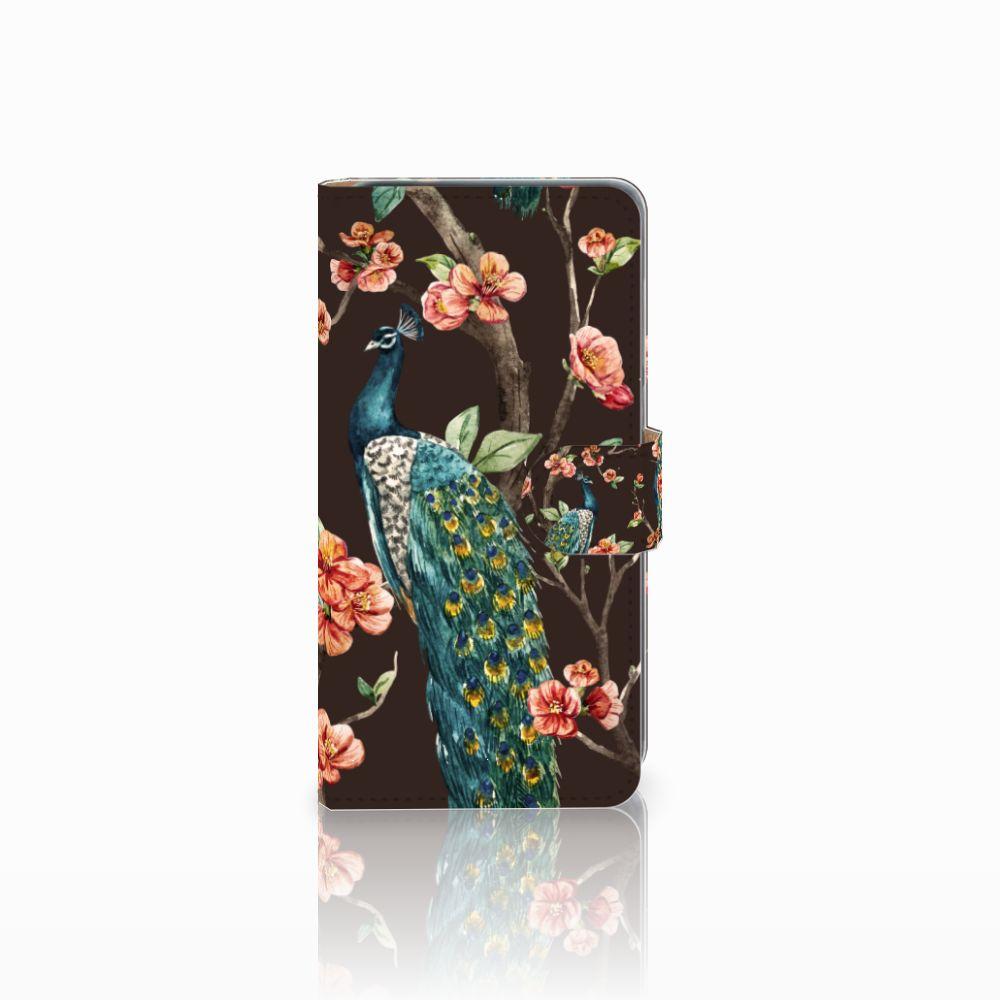 Huawei P8 Lite 2017 Boekhoesje Design Pauw met Bloemen