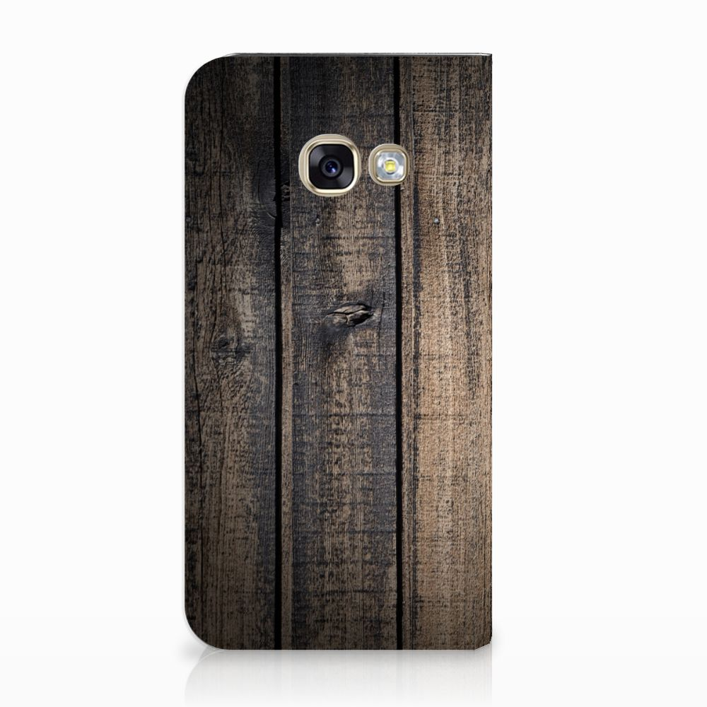 Samsung Galaxy A3 2017 Standcase Hoesje Design Steigerhout