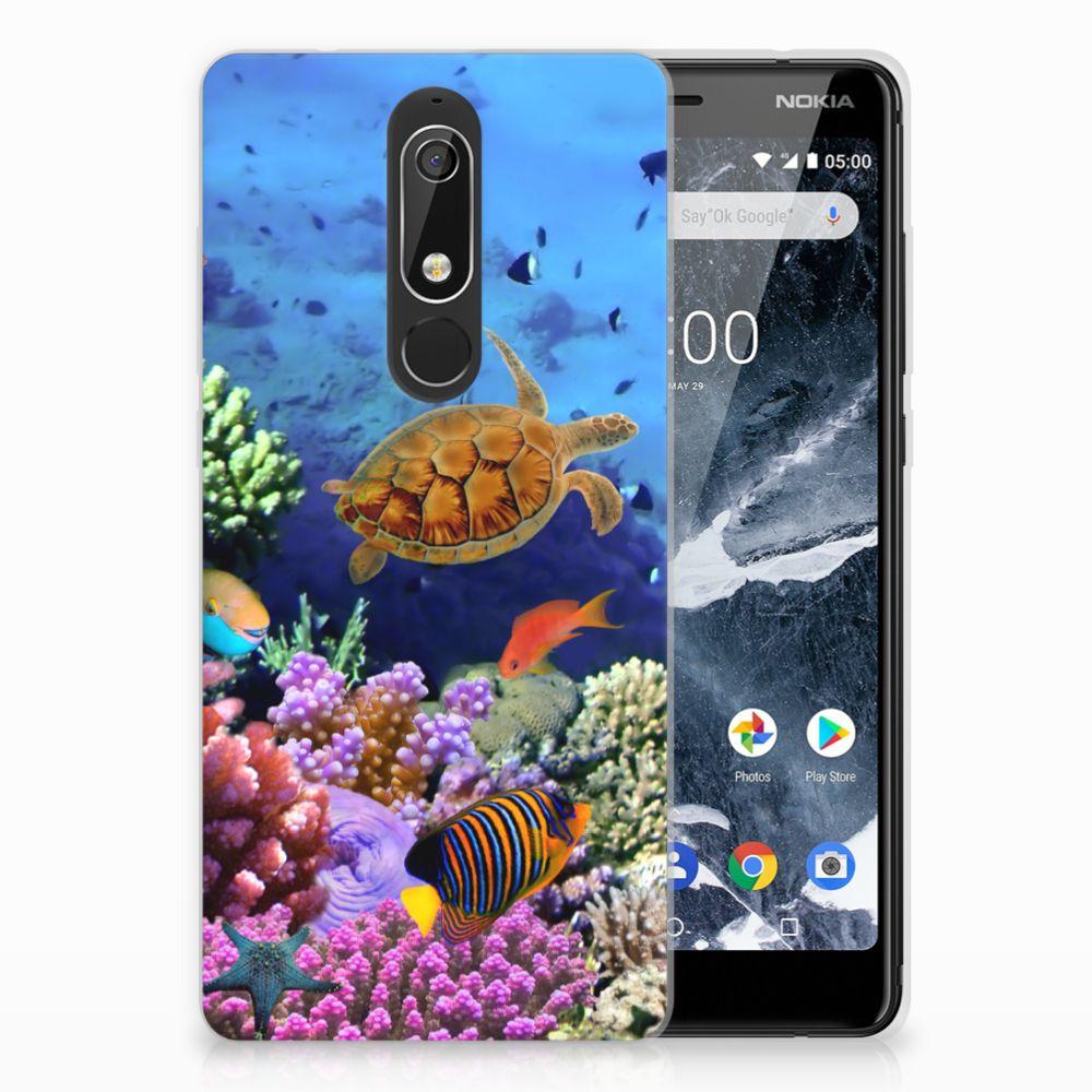 Nokia 5.1 (2018) TPU Hoesje Design Vissen