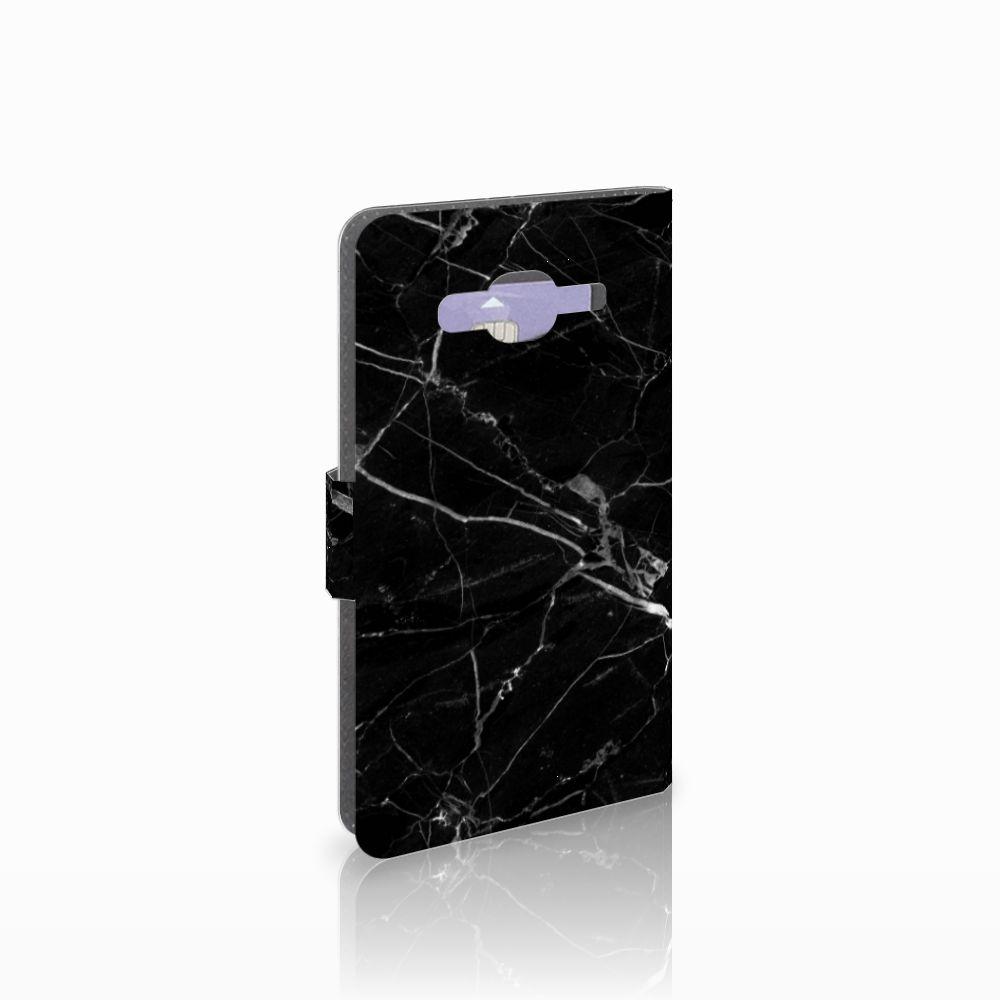 Samsung Galaxy J5 (2015) Uniek Boekhoesje Marmer Zwart