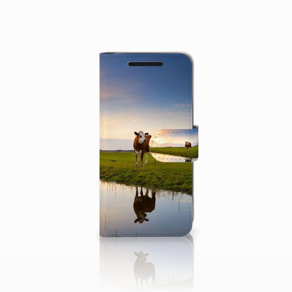 HTC One M9 Telefoonhoesje met Pasjes Koe