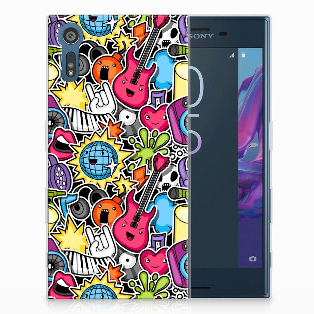Sony Xperia XZs | XZ Uniek TPU Hoesje Punk Rock