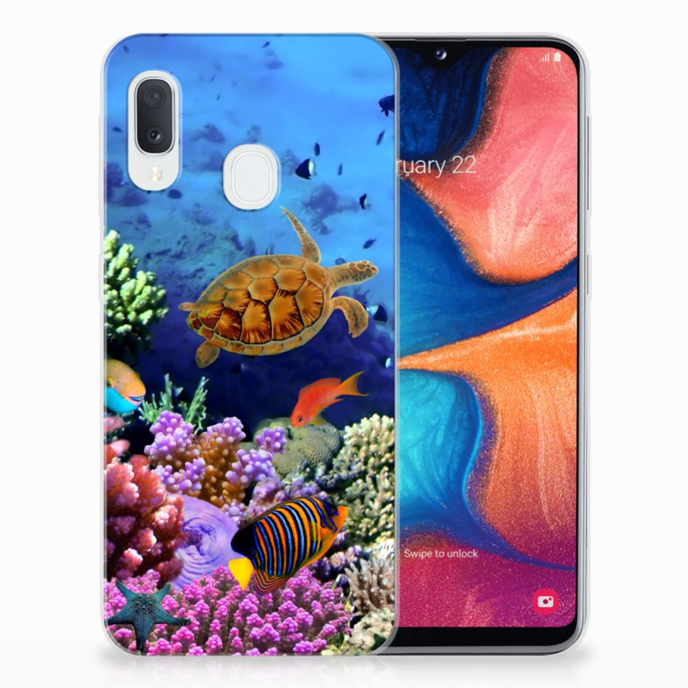 Samsung Galaxy A20e TPU Hoesje Vissen