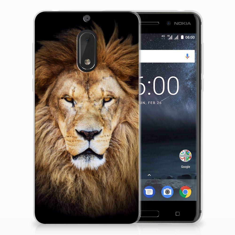 Nokia 6 TPU Hoesje Design Leeuw