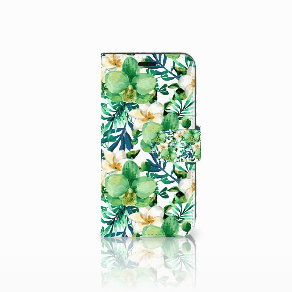 Huawei Nova Uniek Boekhoesje Orchidee Groen