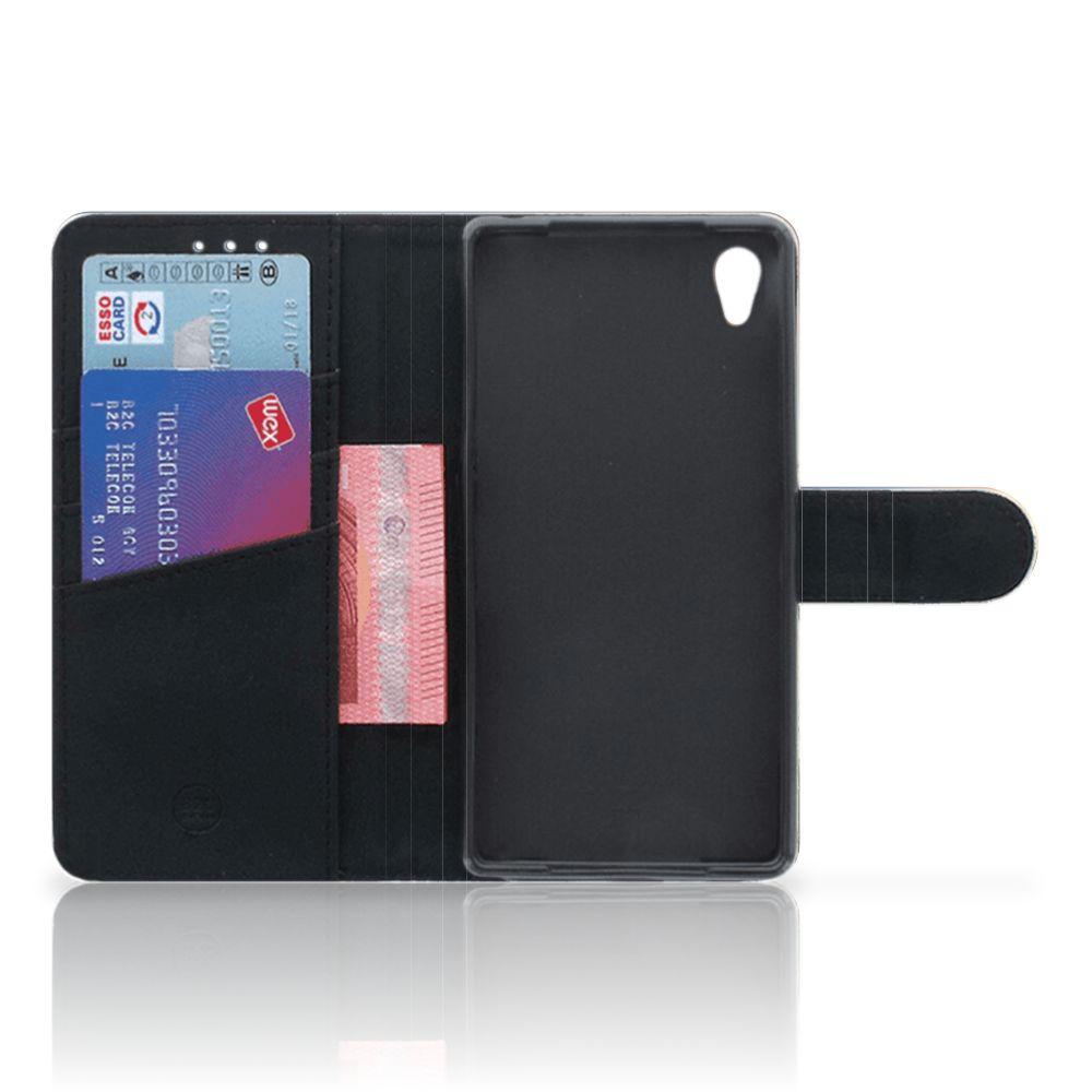 Sony Xperia Z2 Telefoonhoesje met Pasjes Koe