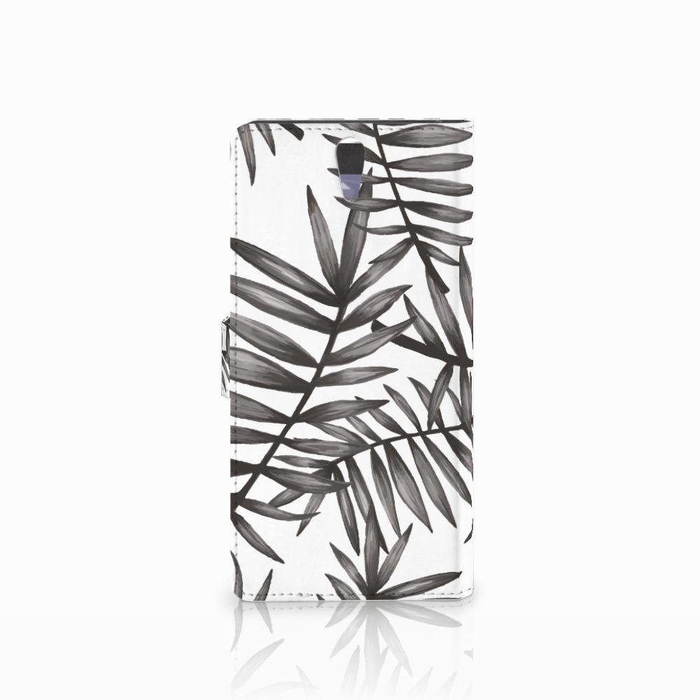 Sony Xperia C5 Ultra Hoesje Leaves Grey