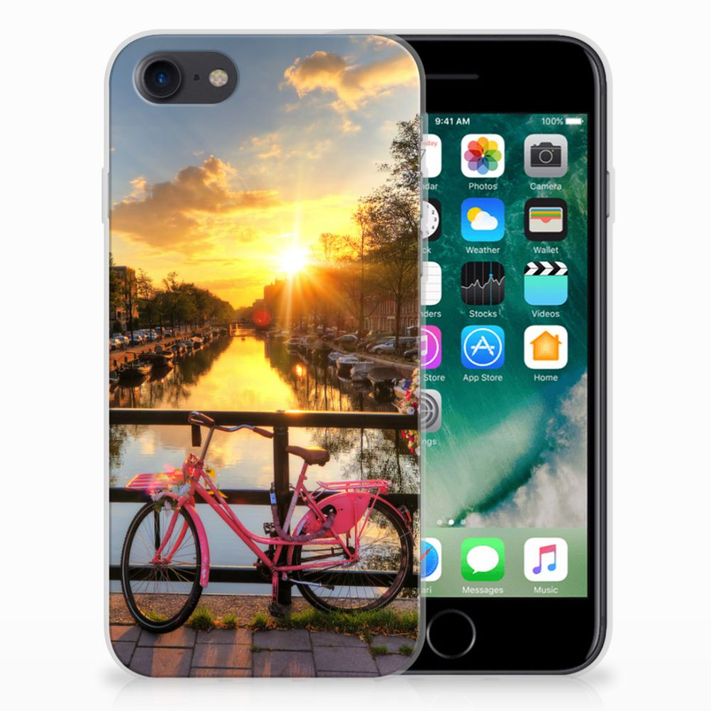 Apple iPhone 7 | 8 Siliconen Back Cover Amsterdamse Grachten