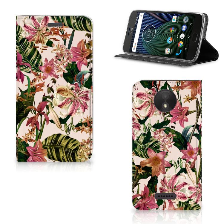 Motorola Moto C Plus Smart Cover Flowers