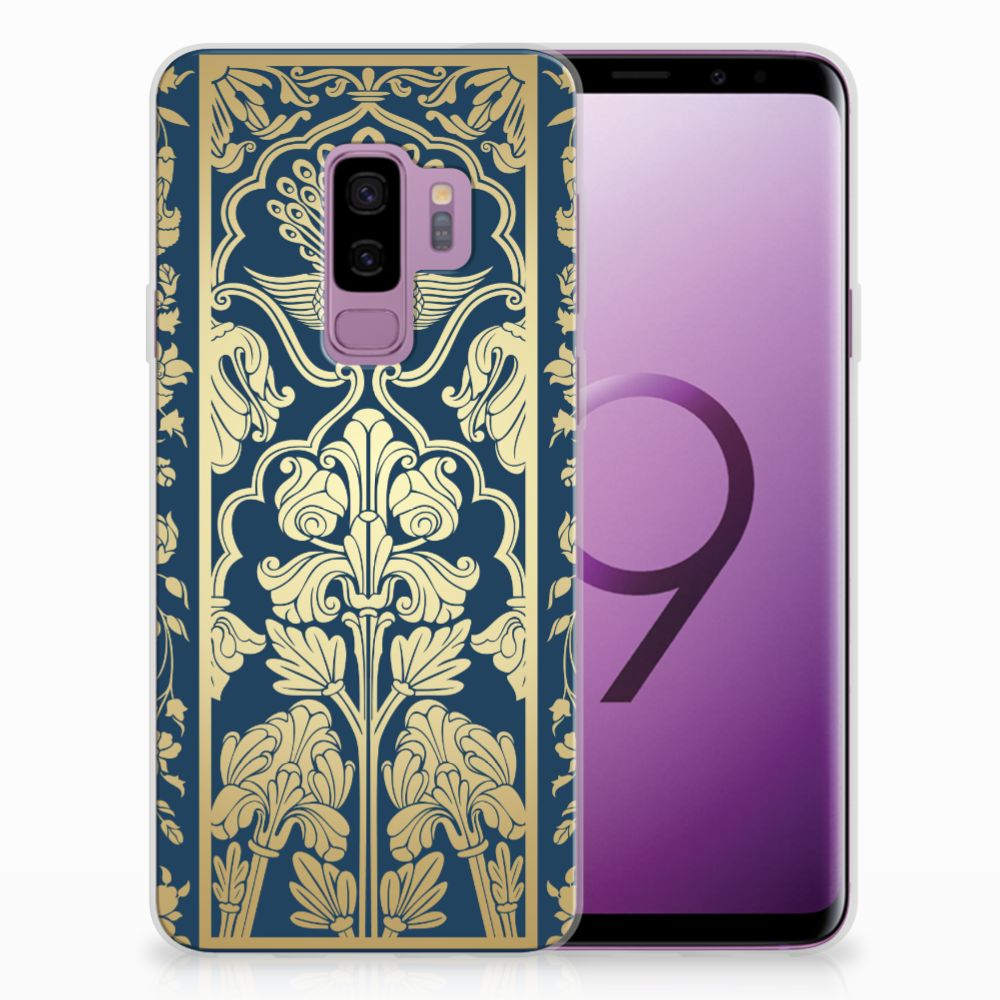 Samsung Galaxy S9 Plus TPU Hoesje Golden Flowers