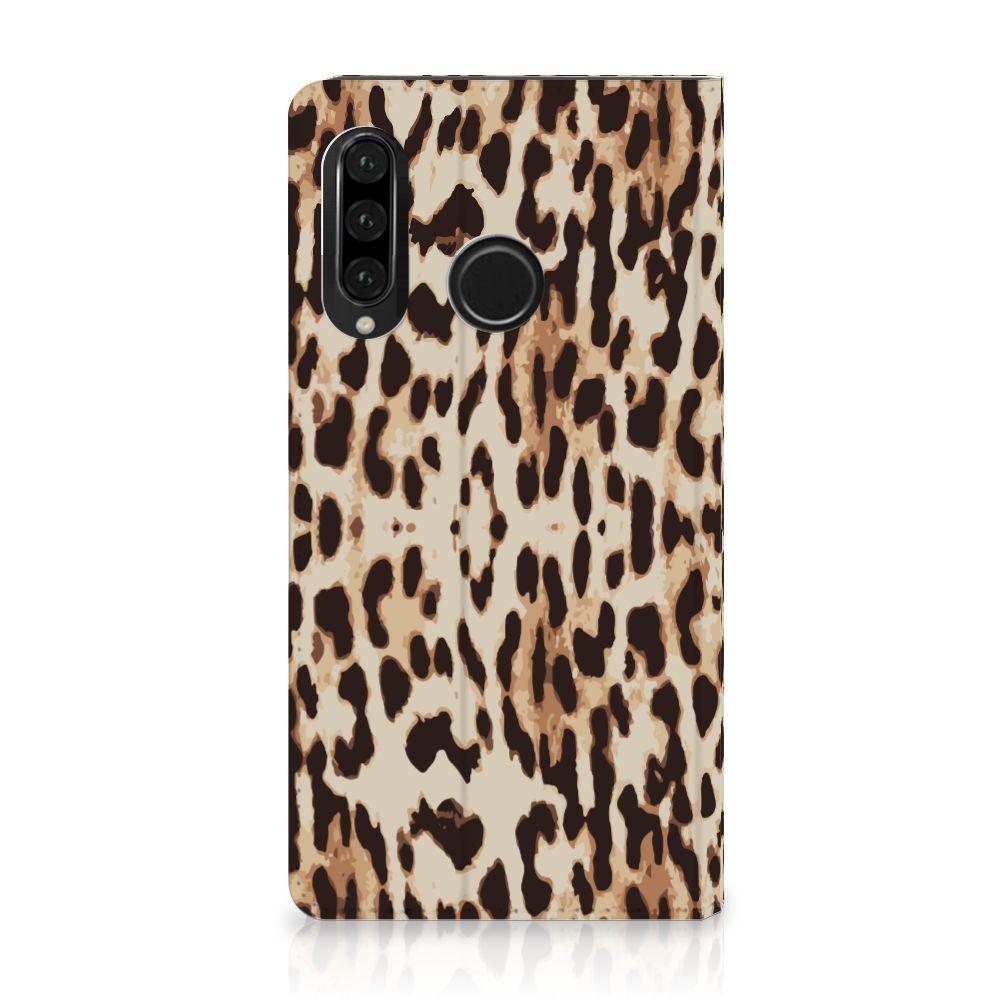 Huawei P30 Lite Uniek Standcase Hoesje Leopard