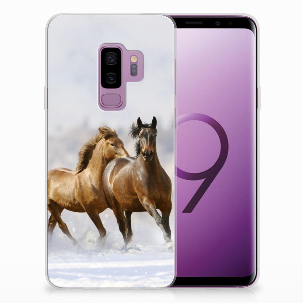 Samsung Galaxy S9 Plus Uniek TPU Hoesje Paarden