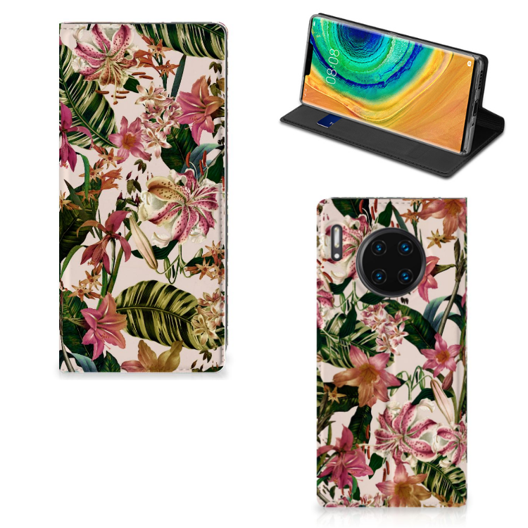 Huawei Mate 30 Pro Smart Cover Flowers