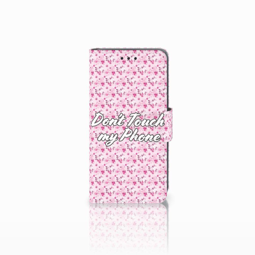 Nokia Lumia 630 Uniek Boekhoesje Flowers Pink DTMP