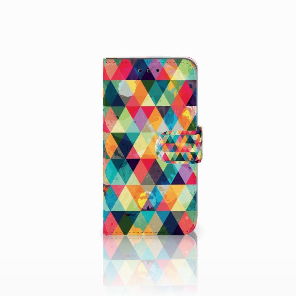 Microsoft Lumia 550 Uniek Boekhoesje Geruit