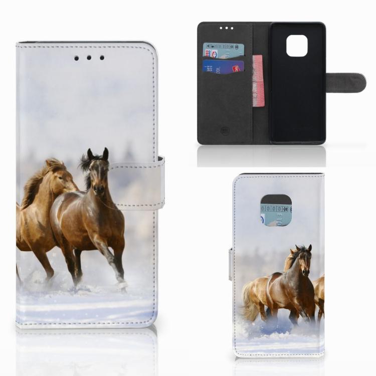 Huawei Mate 20 Pro Telefoonhoesje met Pasjes Paarden