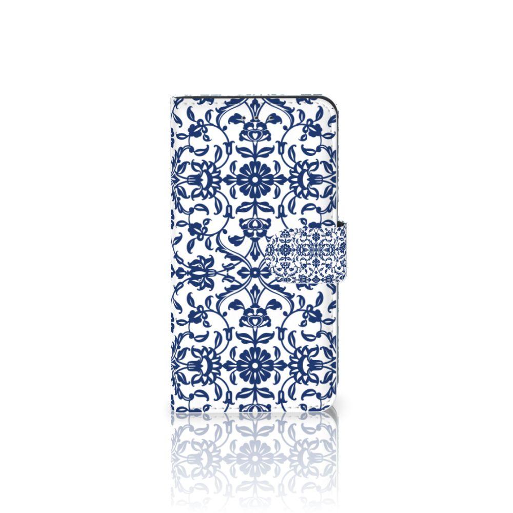 Samsung Galaxy J4 2018 Uniek Boekhoesje Flower Blue