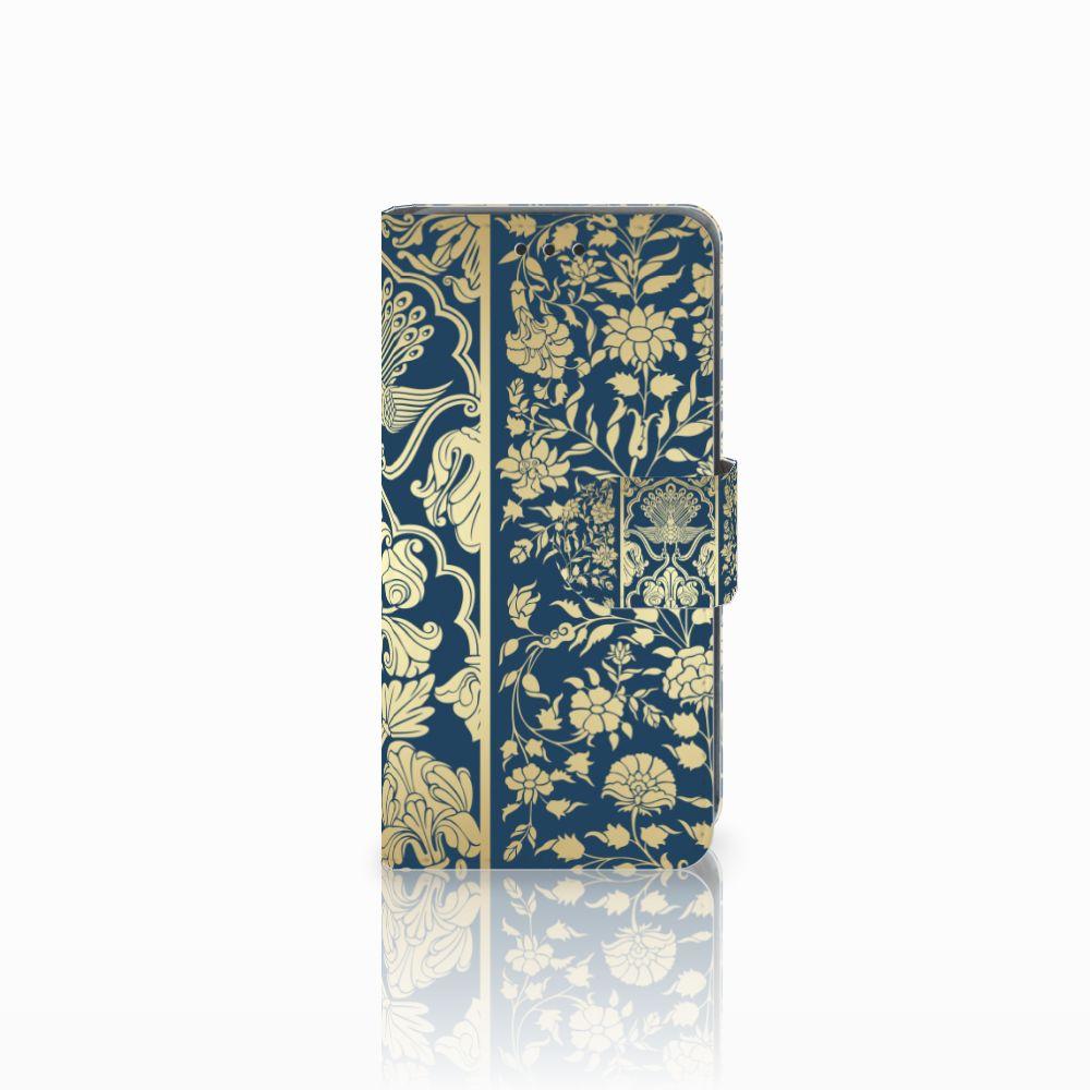 Nokia Lumia 630 Uniek Boekhoesje Golden Flowers