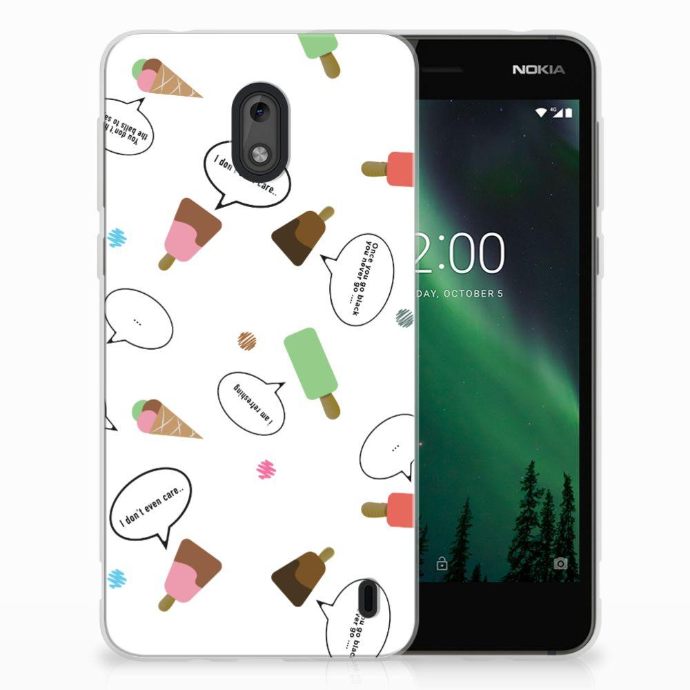 Nokia 2 Siliconen Case IJsjes
