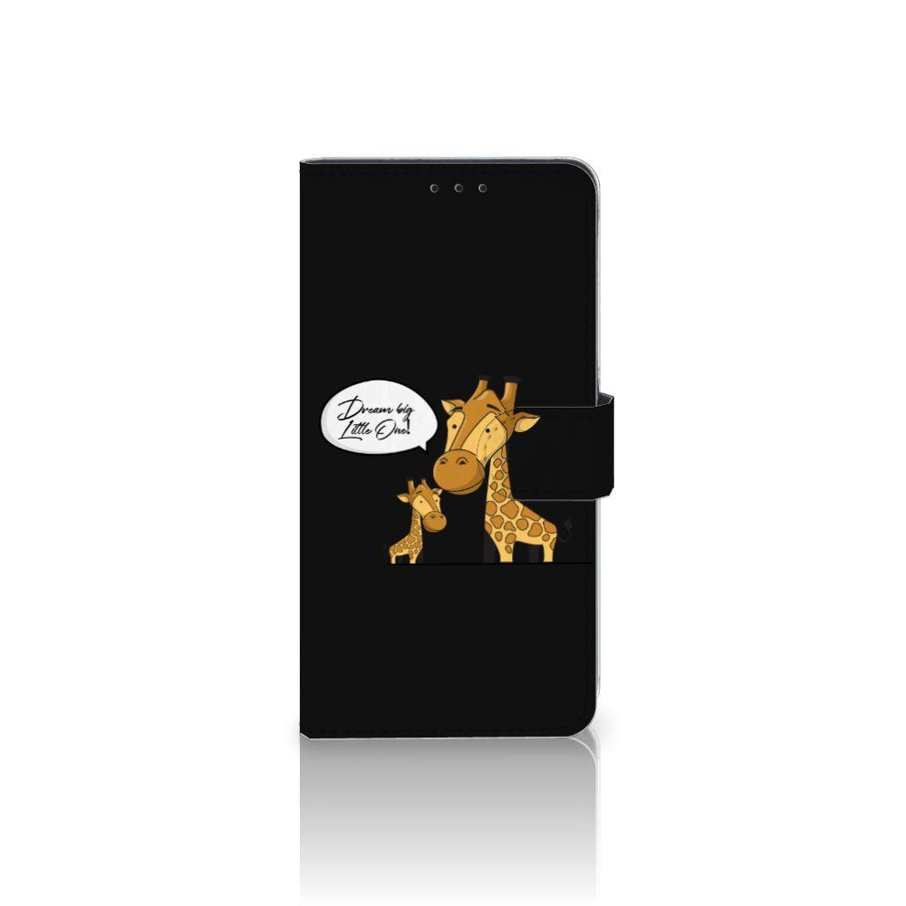 Samsung Galaxy A8 Plus (2018) Uniek Boekhoesje Giraffe