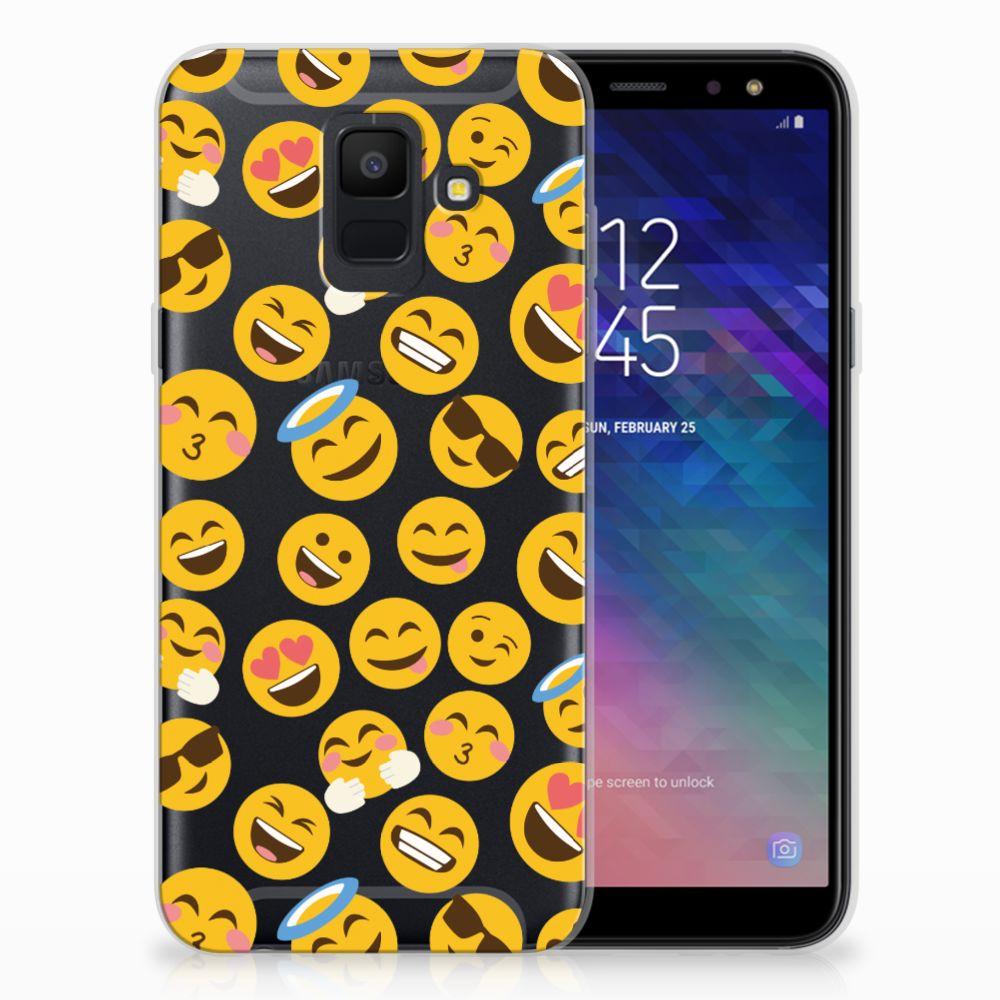 Samsung Galaxy A6 (2018) TPU Hoesje Design Emoji