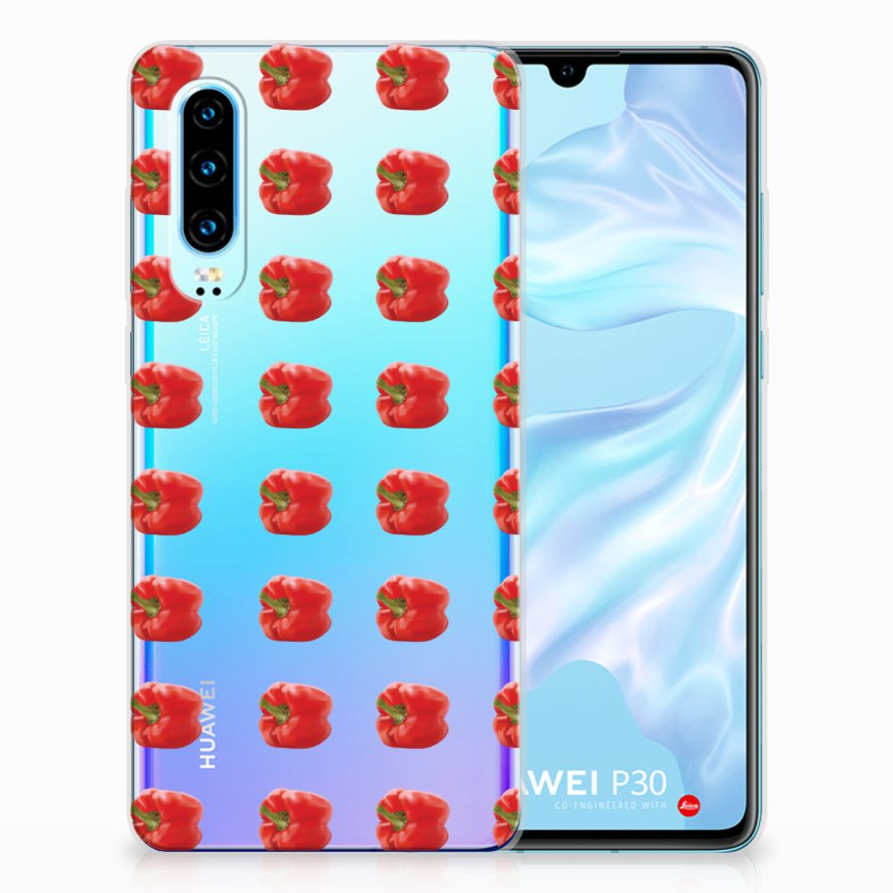Huawei P30 Siliconen Case Paprika Red