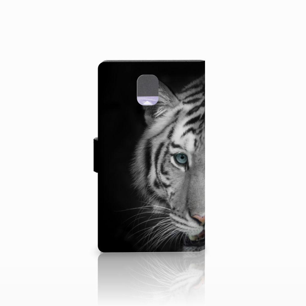 Samsung Galaxy Note 3 Telefoonhoesje met Pasjes Tijger