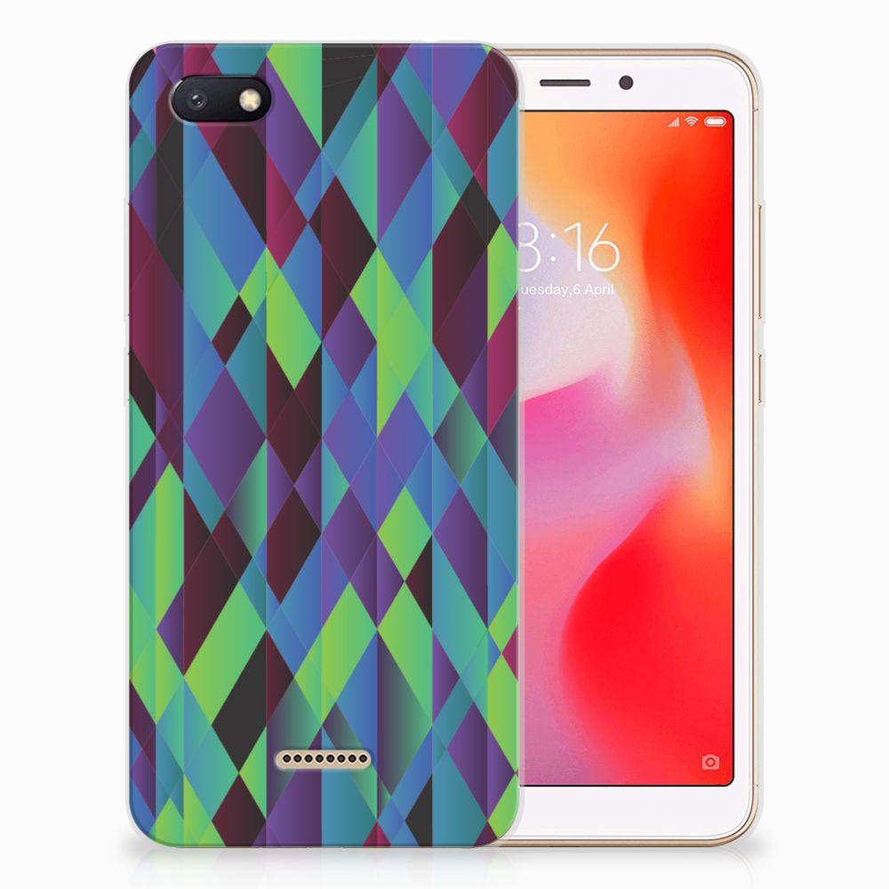 Xiaomi Redmi 6A TPU Hoesje Abstract Green Blue