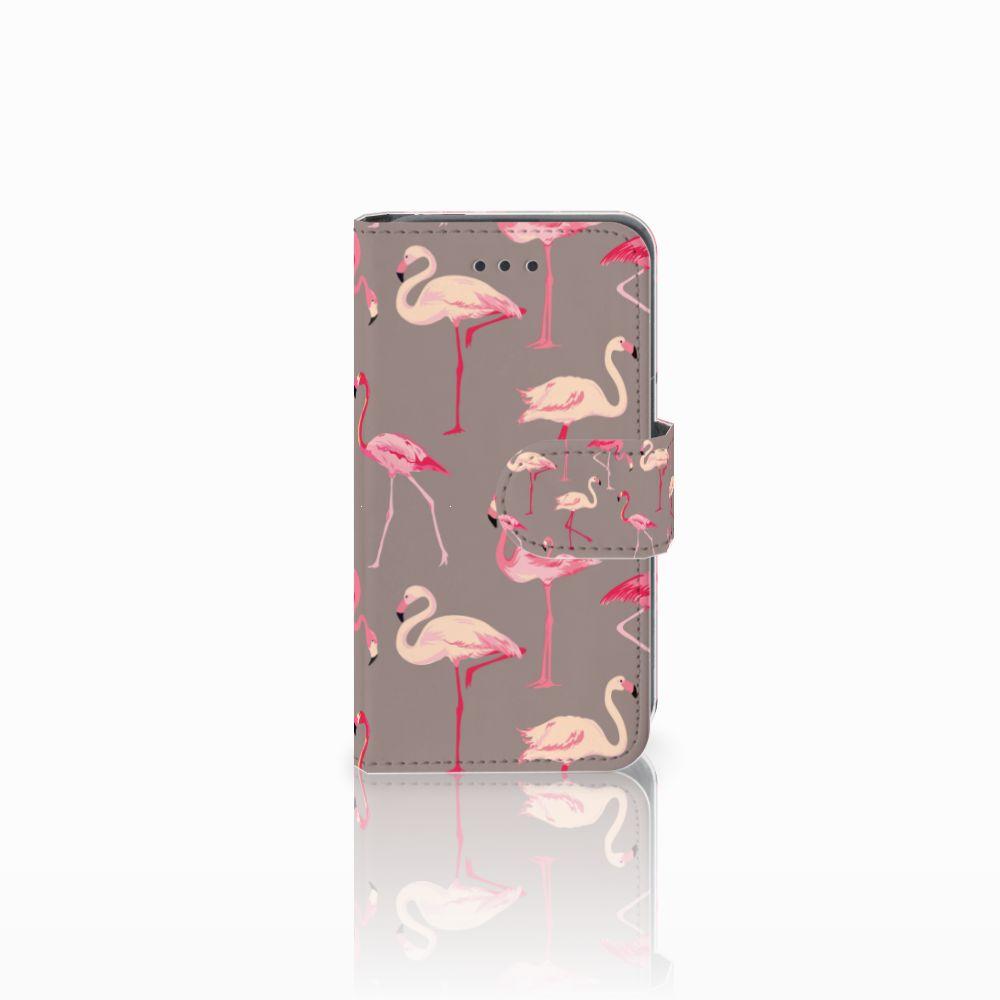 Nokia Lumia 530 Uniek Boekhoesje Flamingo