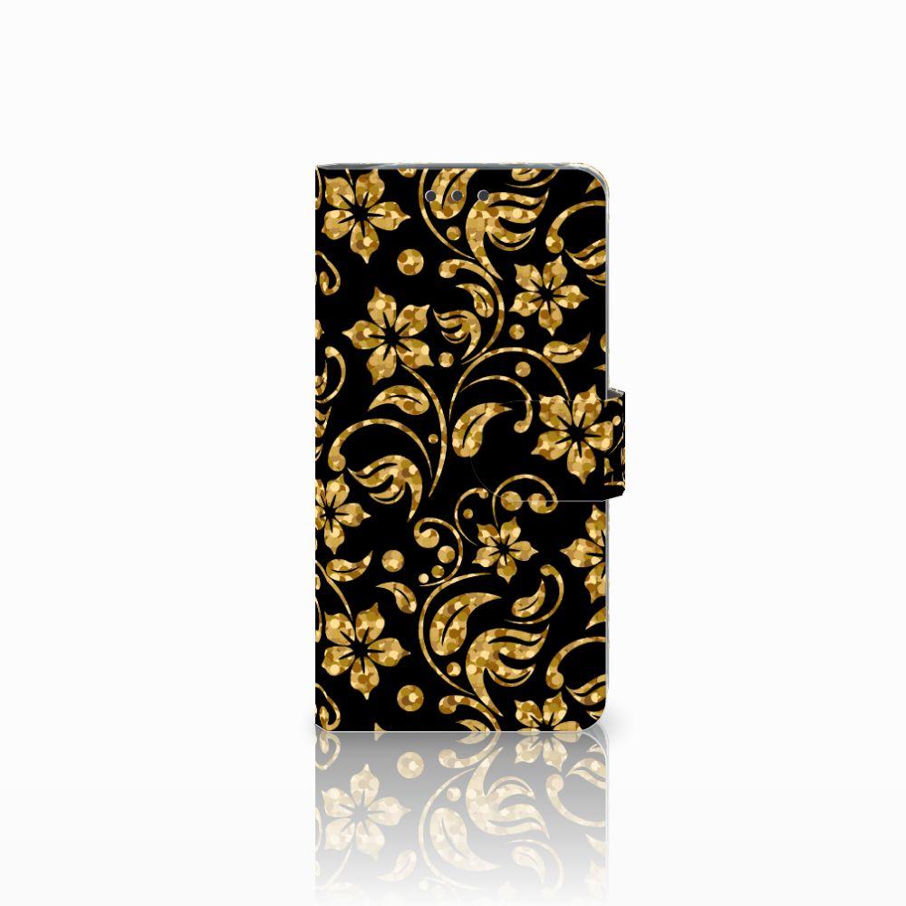LG G5 Boekhoesje Design Gouden Bloemen