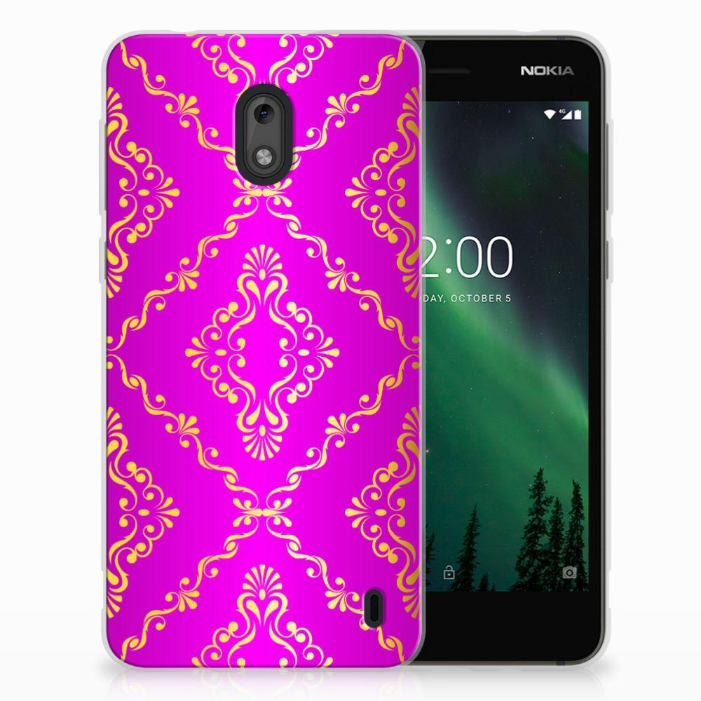 Siliconen Hoesje Nokia 2 Barok Roze