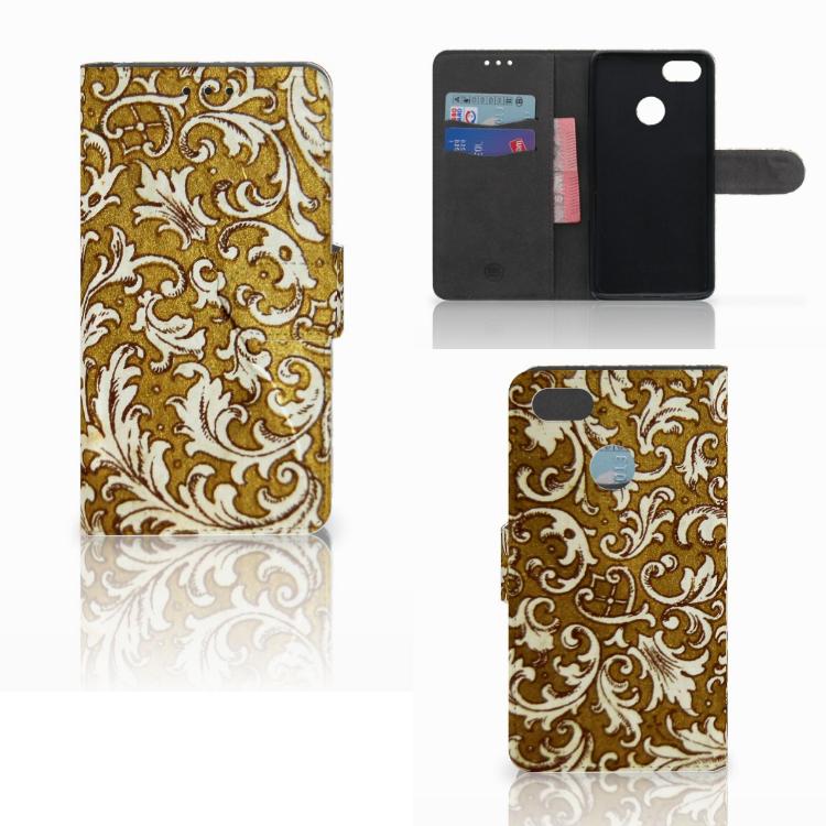 Wallet Case Huawei Y6 Pro 2017 Barok Goud