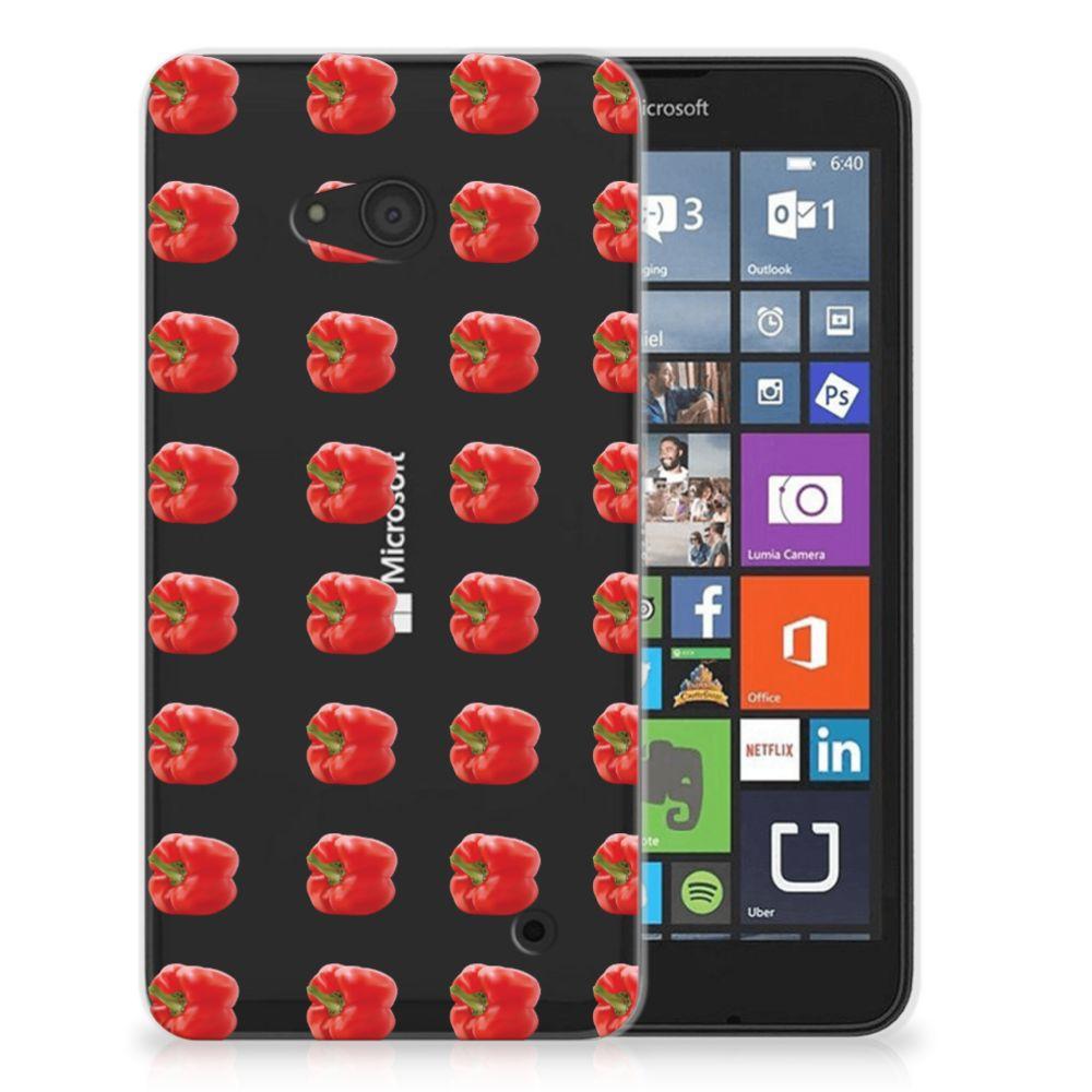 Microsoft Lumia 640 Siliconen Case Paprika Red