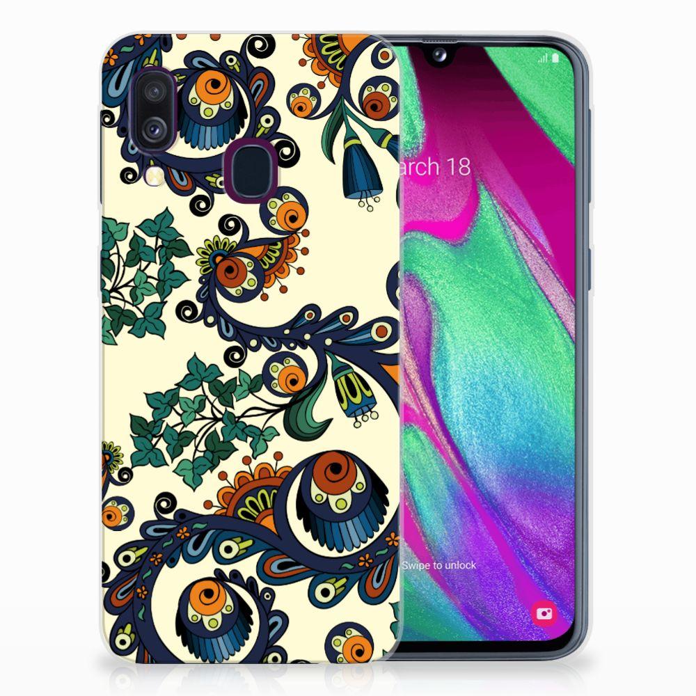 Samsung Galaxy A40 TPU Hoesje Design Barok Flower