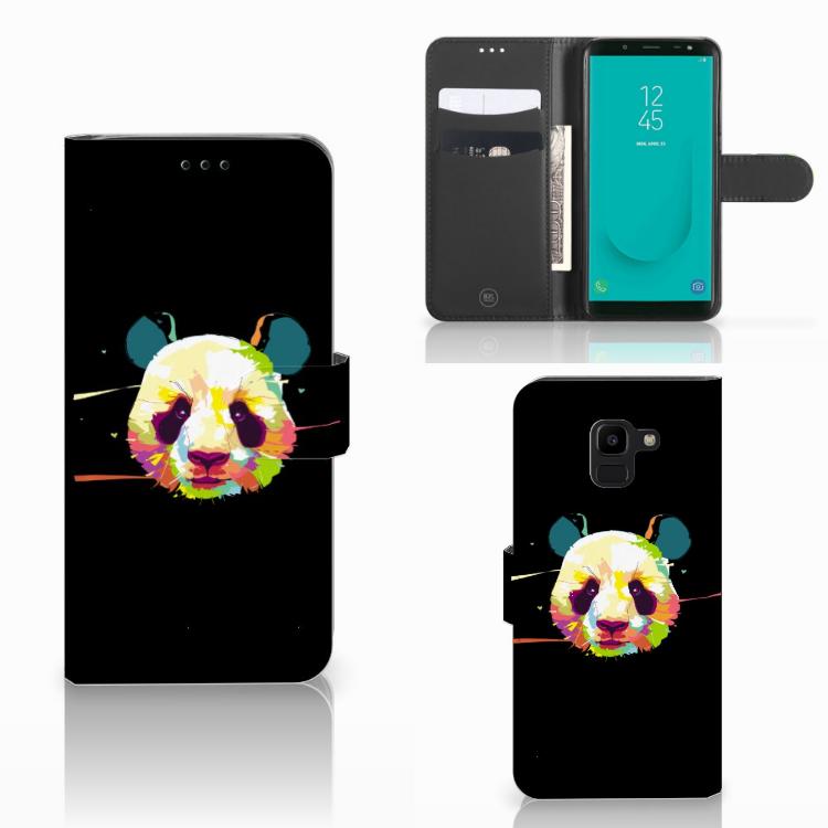 Samsung Galaxy J6 2018 Leuk Hoesje Panda Color