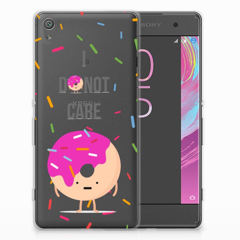 Sony Xperia XA | XA Dual Siliconen Case Donut Roze