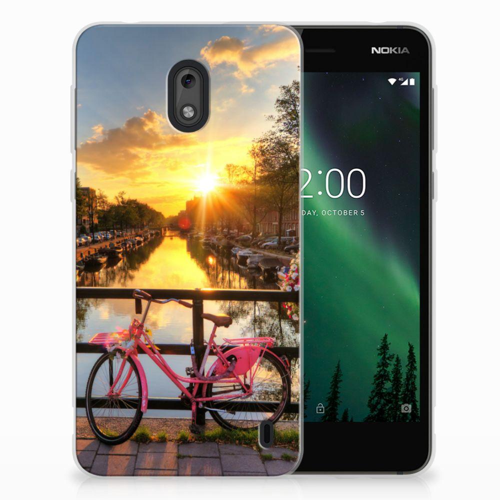 Nokia 2 Uniek TPU Hoesje Amsterdamse Grachten