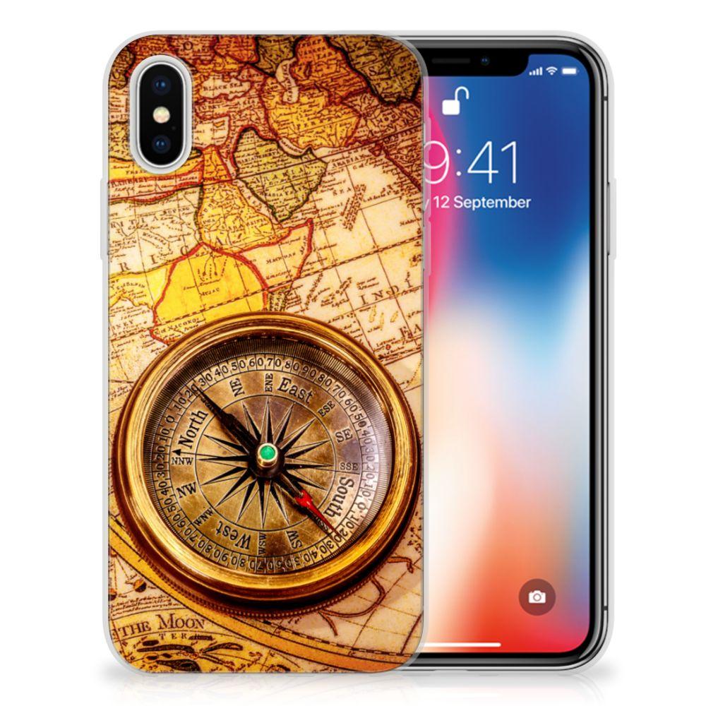 Apple iPhone X | Xs TPU Hoesje Design Kompas