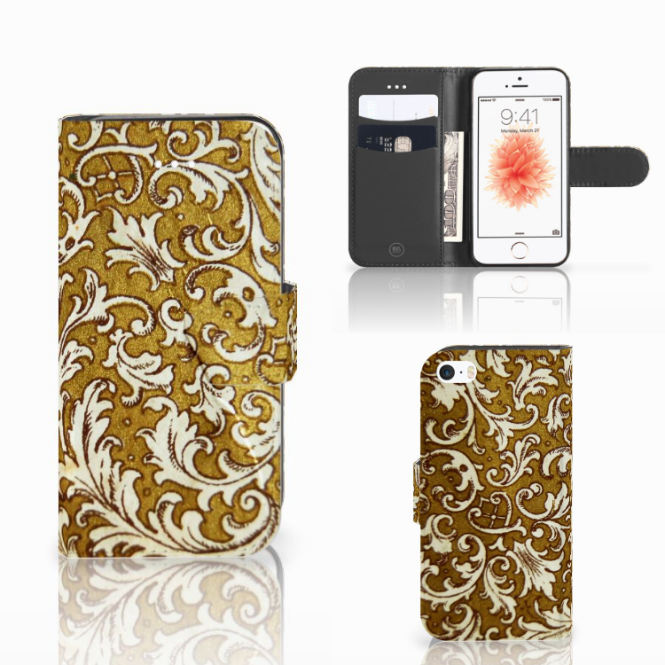 Wallet Case Apple iPhone 5 | 5s | SE Barok Goud
