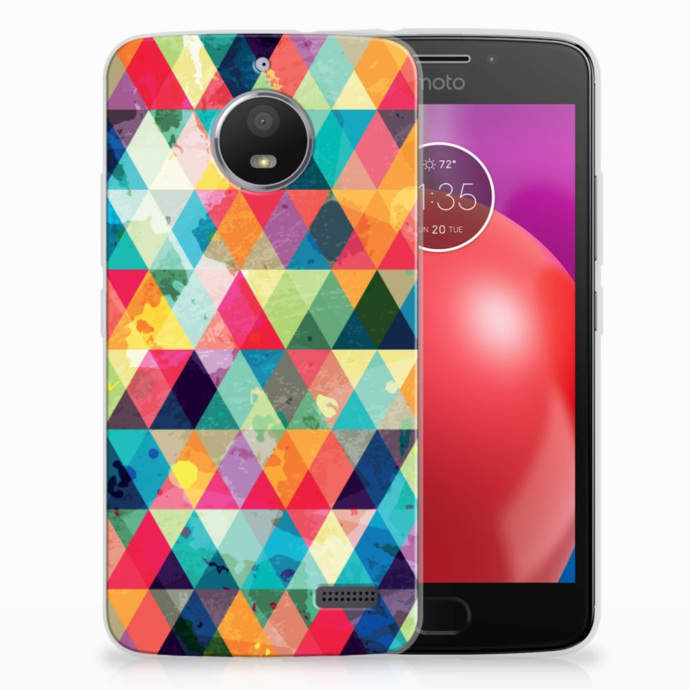 Motorola Moto E4 Uniek TPU Hoesje Geruit