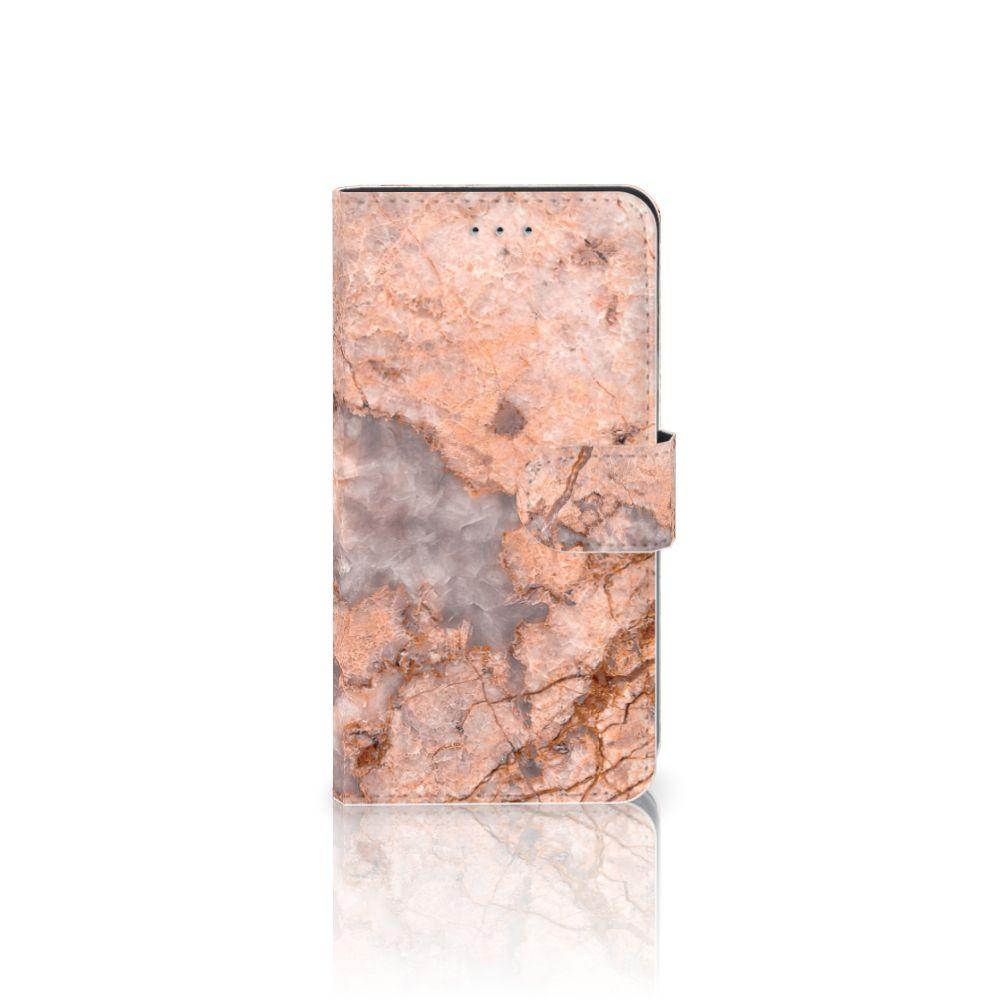 Samsung Galaxy J4 2018 Boekhoesje Design Marmer Oranje